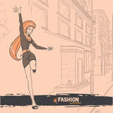 Urban fashion. City and people Royalty Free Stock Images