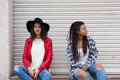 Urban fashion girls Stock Photography