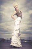 Urban Fashionista. Beautiful woman styled as Urban Fashionista royalty free stock photography