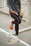 Urban fitness sport and healthy lifestyle concept Royalty Free Stock Photography