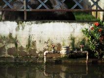 Urban flood global warming royalty free stock photography