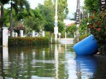 Urban flood global warming stock image