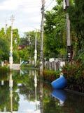 Urban flood global warming stock photo