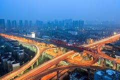 Urban flyover at dusk Royalty Free Stock Images