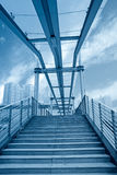 Urban footbridge Stock Photos