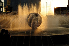 Urban fountain Royalty Free Stock Photos