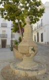 Urban fountain in Tarifa Stock Photos