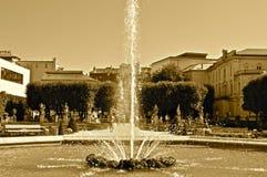 Urban Fountain. Water from an Urban Fountain in Salzburg stock photography