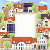 Urban frame , vector drawing Royalty Free Stock Photography