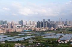 Urban fringe land Stock Image