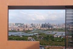 Urban fringe land Stock Photography