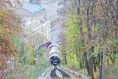 Urban funicular in Kiev, Ukraine – popular public transport royalty free stock photo