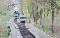 Urban funicular in Kiev, Ukraine royalty free stock photos