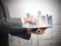 Urban futuristic vision Stock Photo