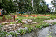 Urban garden in the city of Bayreuth Stock Image