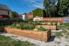 Urban garden in the city of Bayreuth Stock Photos