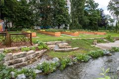 Urban garden in the city of Bayreuth Royalty Free Stock Photography