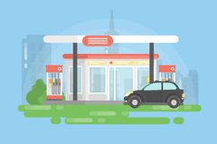 Urban gas station. Royalty Free Stock Photos