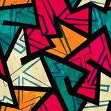 Urban geometric seamless pattern Royalty Free Stock Photography