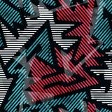 Urban geometric seamless pattern Stock Image