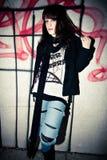 Urban girl. Young urban girl street portrait Stock Photo