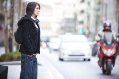 Urban girl. Young beautiful urban girl on the street Royalty Free Stock Photography