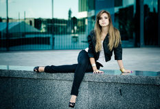 Urban girl Stock Images