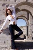 Urban girl in jeans Stock Photo