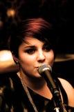 Urban girl singing Royalty Free Stock Images