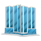 Urban glass tall buildings illustration Stock Photo