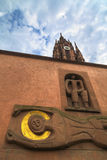 Urban gothic architecture in a church, Frankfurt, Germany Royalty Free Stock Photos