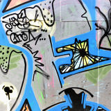 Urban graffiti. Close-up, may be used as background Stock Image