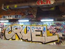 Urban graffiti. Graffiti on a underpass wall in London Stock Photography