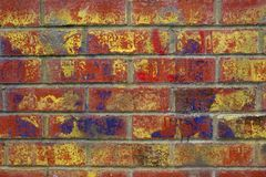 Urban Graffiti. On a red brick wall Royalty Free Stock Images