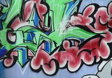 Urban graffiti abstract. Abstract urban graffiti wall painting royalty free stock image