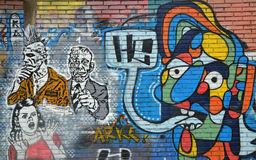 Urban Graffiti in Bogota Royalty Free Stock Photography