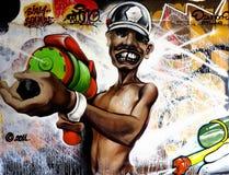 Urban graffiti. Conceptual art or prejudice? Royalty Free Stock Image