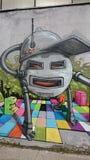Urban graffiti  - robot Stock Photo