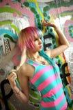 Urban Graffiti Skatepark Fashion shoot Royalty Free Stock Image