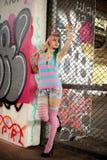 Urban Graffiti Skatepark Fashion shoot Stock Photography