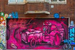 Urban graffiti on the street Spui in Amsterdam Stock Photos