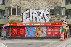 Urban graffitty. Wall art graffitty in Copenhagen, Denmark Stock Photography