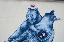 Urban Grafitti in Ljubljana, Slovenia Royalty Free Stock Images