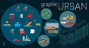 Urban graphic set Stock Photo