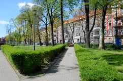 Urban green - Gliwice in Poland Stock Images