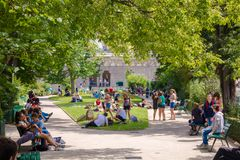 Free Urban Green Oasis In The City Center Stock Image - 162494171
