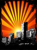 Urban grunge. Style background with sunset Stock Photo