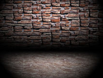 Urban Grunge Abstract Interior Brick and Stone Wall Stage Background Texture Stock Photos