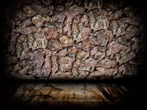 Urban Grunge Abstract Interior Brick and Stone Wall Stage Background Texture Stock Photo