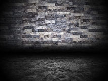 Urban Grunge Abstract Interior Brick and Stone Wall Stage Background Texture Stock Photography